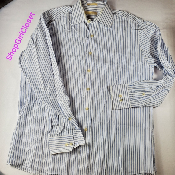 Michael Kors Other - 💥Just In💥MK Striped Button-down Mens L